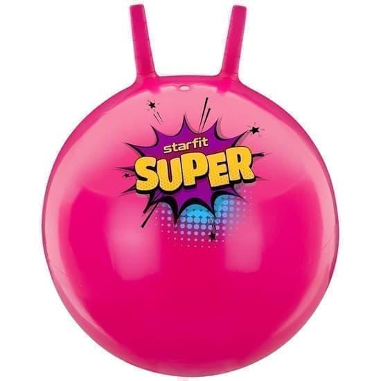 Starfit GB-0401 SUPER 45СМ, 500Г Мяч-попрыгун с рожками антивзрыв Розовый - фото 160089