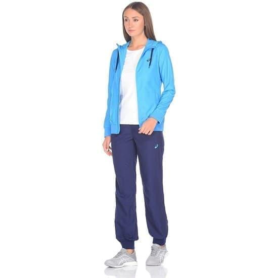 Asics SUIT (W) Спортивный костюм женский Голубой/Темно-синий - фото 160534