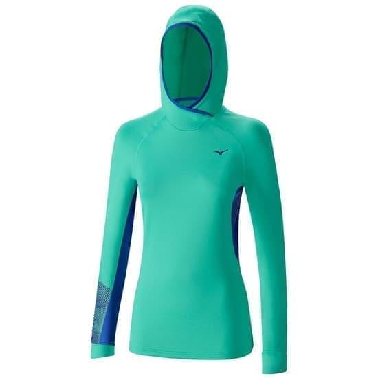 Mizuno WARMALITE PHENIX HOODY Толстовка с капюшоном Зеленый/Синий - фото 160753