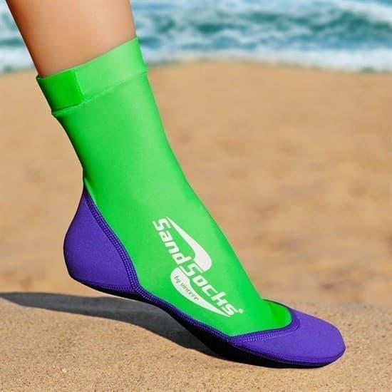 Vincere SAND SOCKS LIME GREEN-PURPLE Носки для пляжного волейбола Фиолетовый/Зеленый - фото 161098