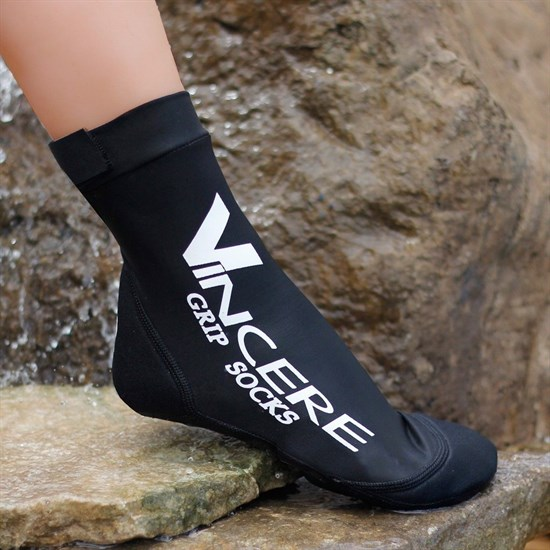 Vincere GRIP SOCKS BLACK Носки для пляжного волейбола (Липкий лого) Черный - фото 161102