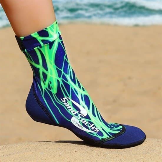 Vincere SAND SOCKS GREEN LIGHTNING Носки для пляжного волейбола Синий/Зеленый - фото 161120