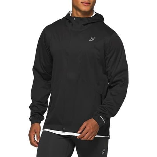 Asics ACCELERATE JACKET Куртка беговая ветрозащитная Черный/Белый - фото 161301