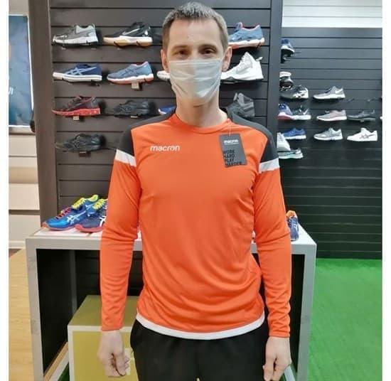 Macron TITAN Футболка с длинным рукавом Оранжевый - фото 161400
