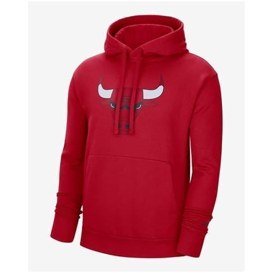 Nike CHICAGO BULLS ESSENTIAL Толстовка баскетбол Красный/Черный - фото 161426