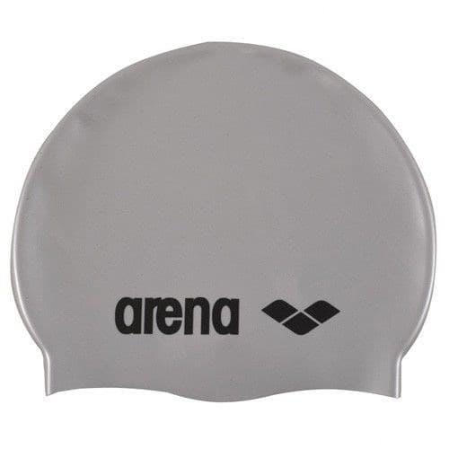 Arena CLASSIC SILICONE Шапочка для плавания Серебристый/Черный - фото 161581