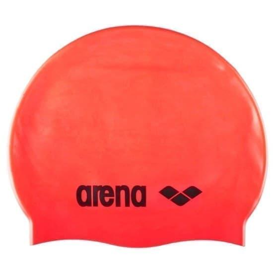 Arena CLASSIC SILICONE Шапочка для плавания Красный/Черный - фото 161584