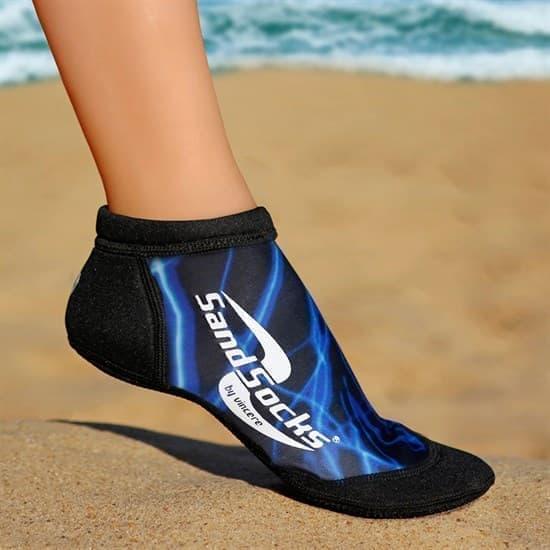 Vincere SPRITES SAND SOCKS BLUE LIGHTNING Носки для пляжного волейбола Черный/Синий - фото 162070
