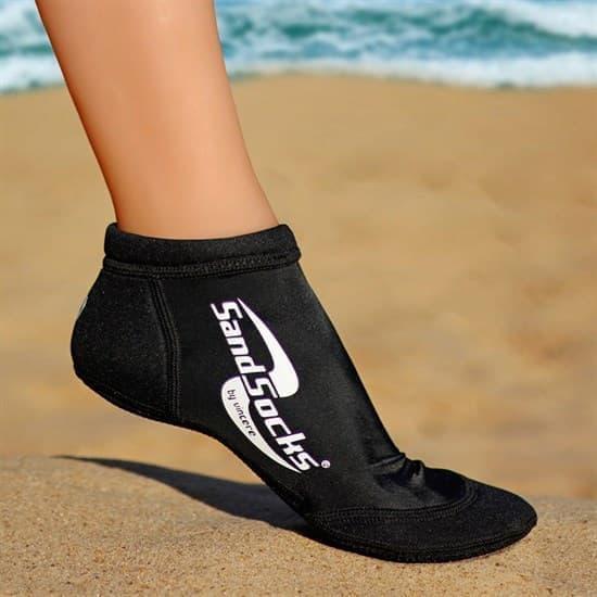 Vincere SPRITES SAND SOCKS BLACK Носки для пляжного волейбола Черный/Белый - фото 162078