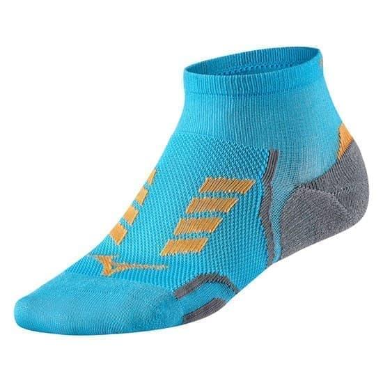 Mizuno DRYLITE RACE MID Носки беговые Голубой/Оранжевый - фото 162562