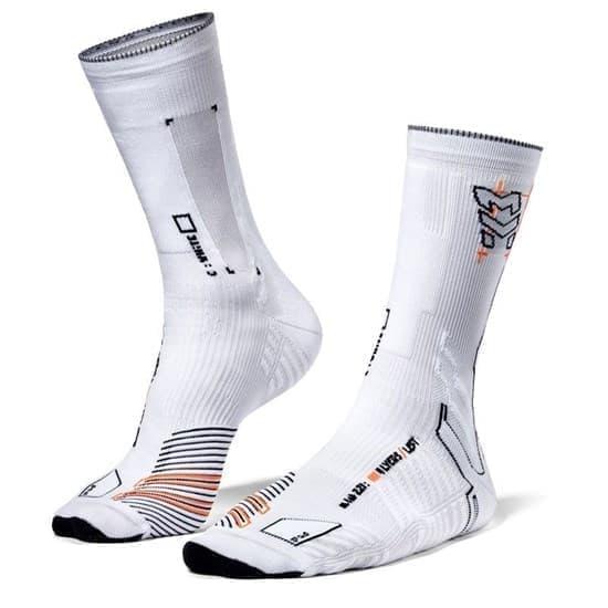 Moretan SQUARD Носки беговые высокие Белый/Серый - фото 162610