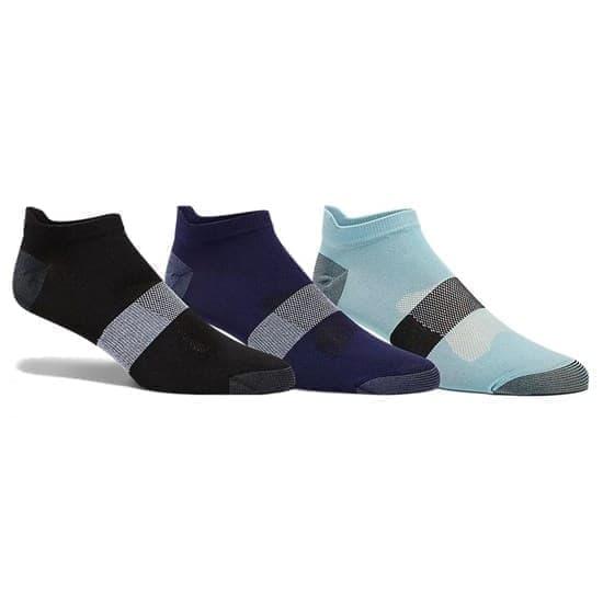 Asics 3PPK LYTE SOCK Носки беговые низкие (3 пары) Черный/Темно-синий/Голубой - фото 162624