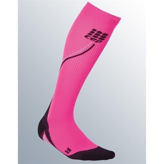 CEP C1NW Гольфы беговые со светоотражателями женские Розовый/Черный - фото 162682