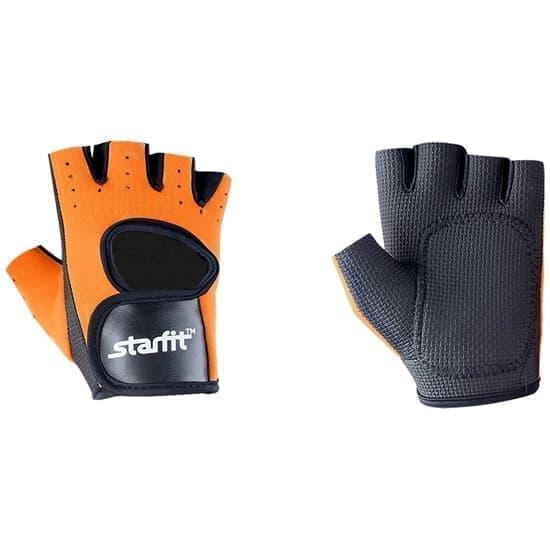 Starfit SU-107 Перчатки для фитнеса Оранжевый/Черный - фото 163556