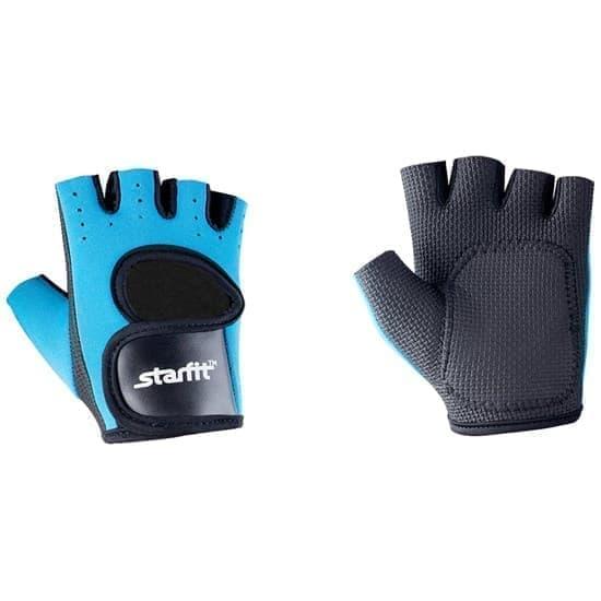 Starfit SU-107 Перчатки для фитнеса Синий/Черный - фото 163559