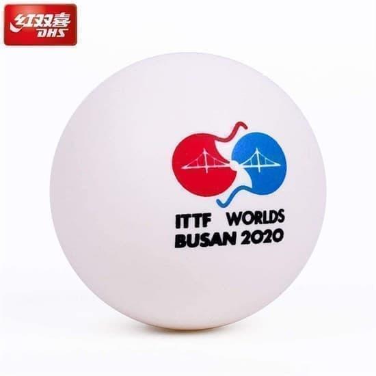 DHS 3*** BUSAN Мячи для настольного тенниса (6 шт) - фото 163797