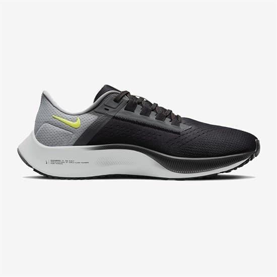 Nike AIR ZOOM PEGASUS 38 Кроссовки беговые Черный/Серый/Салатовый - фото 165419