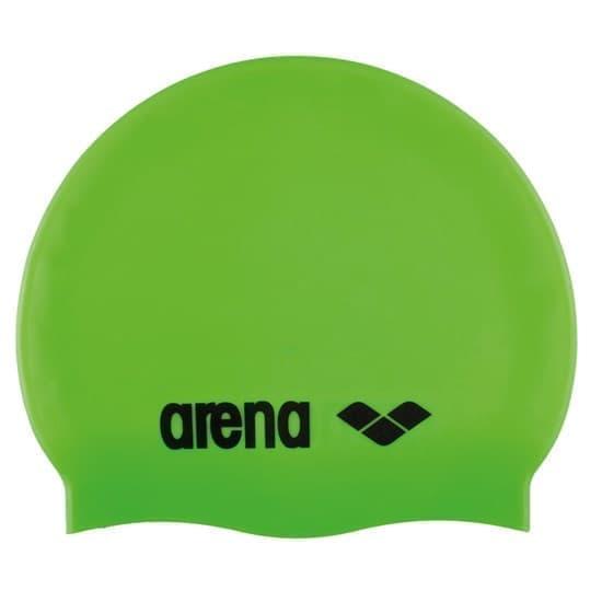 Arena CLASSIC SILICONE JR Шапочка для плавания Салатовый/Черный - фото 165667