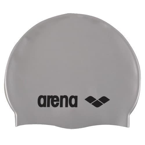 Arena CLASSIC SILICONE JR Шапочка для плавания Серебристый/Черный - фото 165668