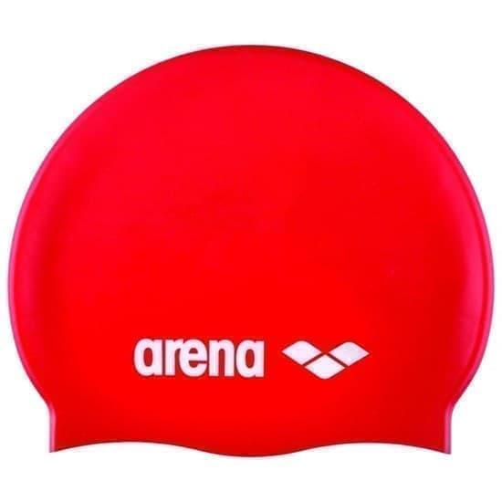 Arena CLASSIC SILICONE JR Шапочка для плавания Красный/Белый - фото 165777