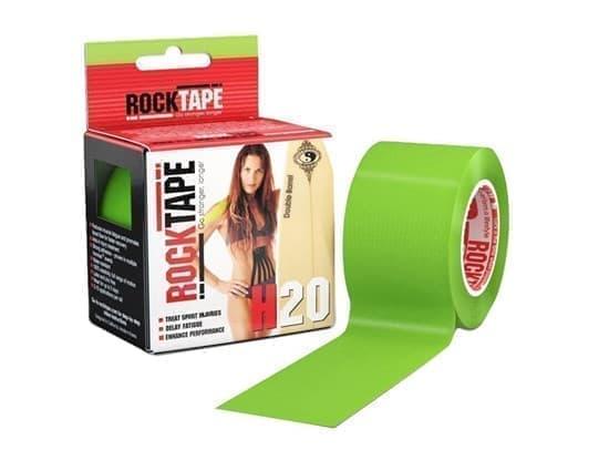 RockTape H2O 5смх5м лайм-зелёный Кинезиотейп Лайм - фото 165895
