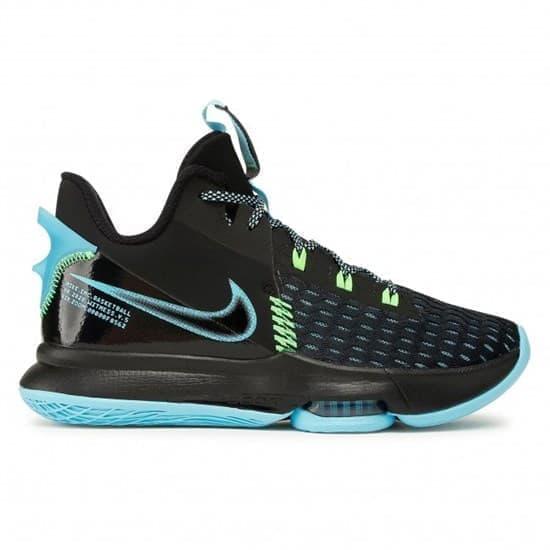 Nike LEBRON WITNESS V Кроссовки баскетбольные Черный/Голубой - фото 166343