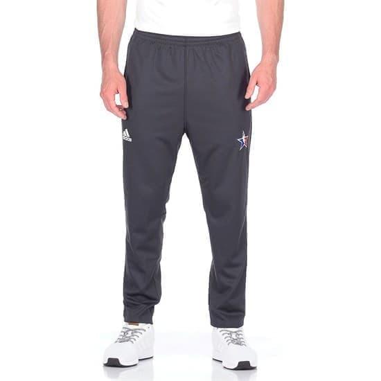Adidas AS PANT Брюки беговые Черный/Белый - фото 167476
