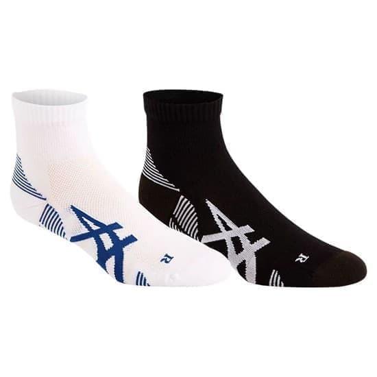 Asics 2PPK CUSHIONING SOCK Носки беговые (2 пары) Белый/Синий/Черный/Белый - фото 169533