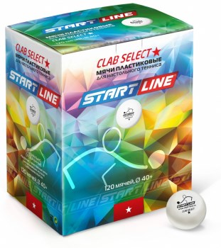Start Line CLUB SELECT 1* Мячи для настольного тенниса (120 шт) - фото 169644
