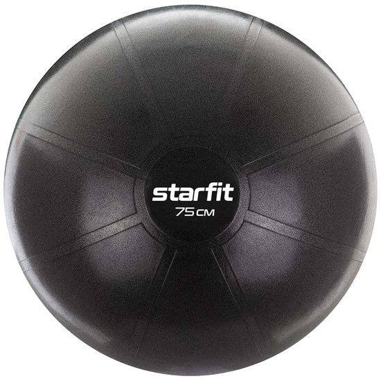 Starfit PRO GB-107, 75 СМ, 1400 Г Фитбол высокой плотности антивзрыв Черный - фото 171439