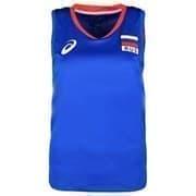 Asics WOMAN RUSSIA SLEEVELESS TEE Футболка игровая волейбольная женская Синий/Красный