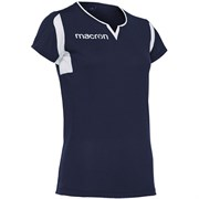 Macron FLUORINE Футболка волейбольная женская Темно-синий/Белый