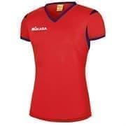 Mikasa NENE Футболка волейбольная женская Красный/Синий