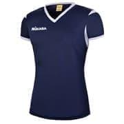 Mikasa NENE Футболка волейбольная женская Темно-синий/Белый