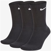 Nike EVERYDAY CUSHION CREW Носки беговые (3 пары) Черный/Белый