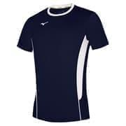 Mizuno AUTHENTIC HIGH-KYU TEE HIQ Футболка волейбольная Темно-синий/Белый