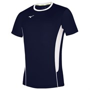 Mizuno PREMIUM HIGH-KYU TEE HIQ Футболка волейбольная Темно-синий/Белый