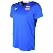 Asics MAN RUSSIA SS TEE Футболка игровая волейбольная Синий
