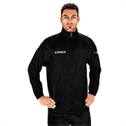 Legea ITALIA Куртка ветрозащитная Черный/Белый