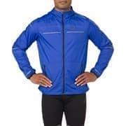 Asics LITE-SHOW JACKET Куртка беговая ветрозащитная Синий/Серый