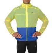 Asics PACKABLE JACKET Куртка беговая ветрозащитная Салатовый/Синий