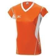 Mizuno PREMIUM WOMEN'S CAP SLEEVE Футболка волейбольная женская Оранжевый/Белый/Белый