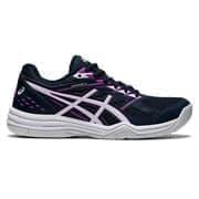 Asics UPCOURT 4 (W) Кроссовки волейбольные женские Темно-синий/Розовый