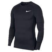 Nike PRO MEN'S TIGHT-FIT LONG-SLEEVE Лонгслив Черный/Белый