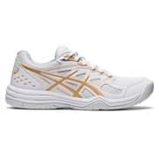 Asics UPCOURT 4 (W) Кроссовки волейбольные женские Белый/Золотой