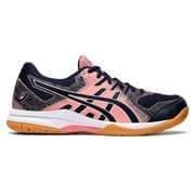 Asics GEL-ROCKET 9 (W) Кроссовки волейбольные женские Темно-синий/Розовый