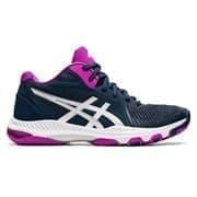 Asics NETBURNER BALLISTIC FF MT 2 (W) Кроссовки волейбольные женские Темно-синий/Розовый