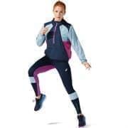 Asics VISIBILITY JACKET (W) Куртка беговая ветрозащитная женская Темно-синий/Голубой
