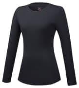 Mizuno BT UNDER ROUND NECK LS (W) Термофутболка с длинным рукавом женская Черный