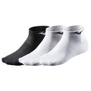 Mizuno TRAINING MID 3P Носки низкие Черный/Белый/Белый